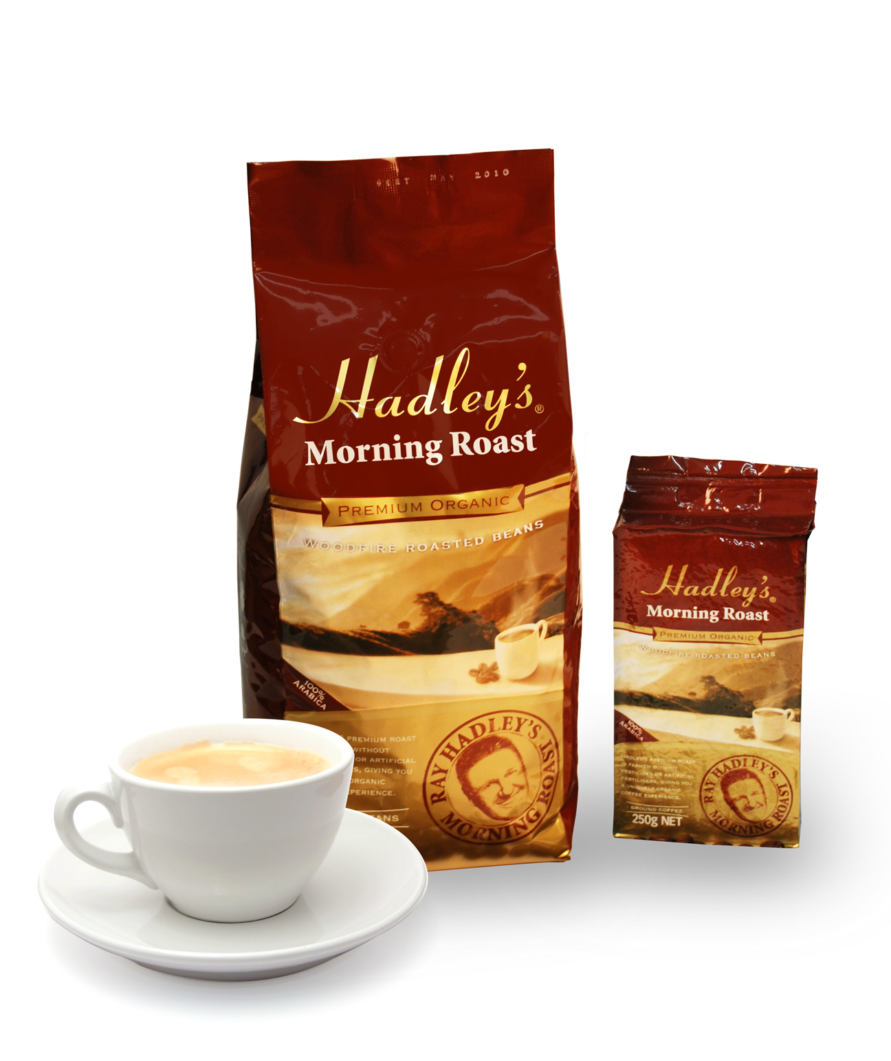 Premium Organic Coffee Packaging Designs.: toastdesign.com.au/design/hadleys-morning-roast