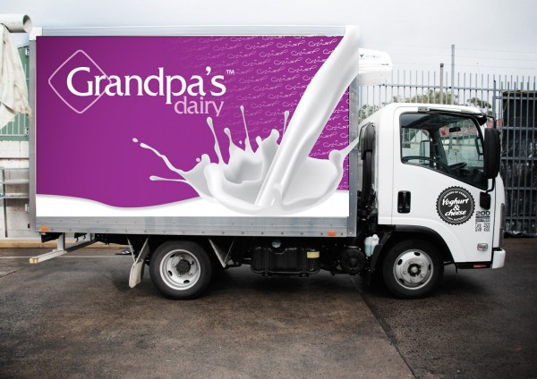 Dairy Business Truck Design