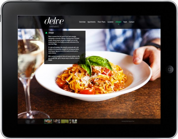 Delve Apartments Website Design