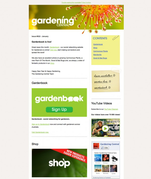 eNewsletter Design
