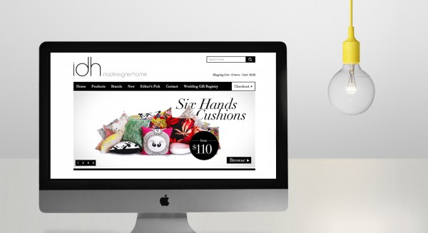 In A Designer Home Website Design