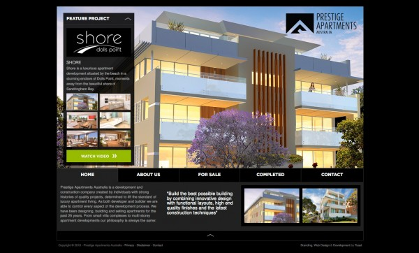 Prestige Apartments Website Design